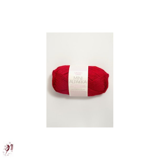 Mini Alpakka 4219 rød