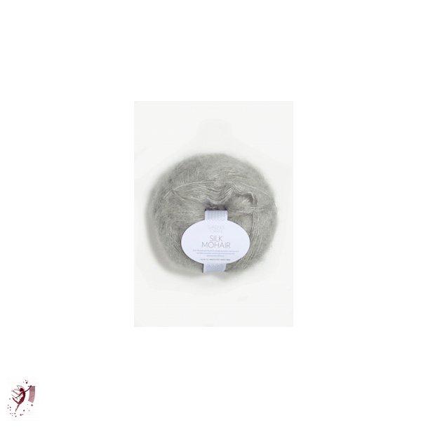 Silk Mohair 1022 lysgrå meleret
