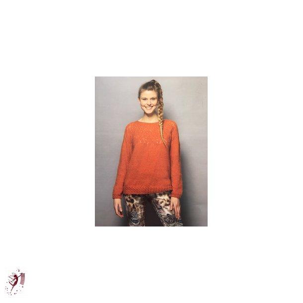 Bluse i Tibet  nr 3819 strikkekit 500 kr str m-l